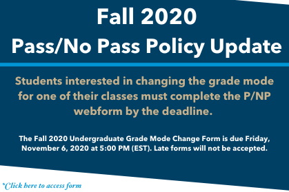 Fall 2020 Updated Office Schedule Virtual Operations